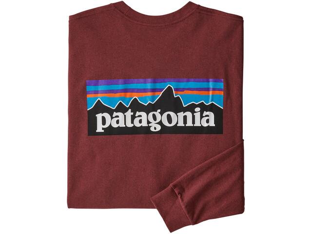 Patagonia P-6 Logo Langærmet T-shirt Herrer, oxide red